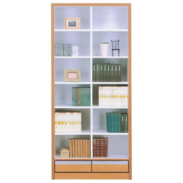 本棚 書棚 本収納 収納家具 幅83cm 完成品 国産 おしゃれ 引き出し付き 収納家具 送料無料