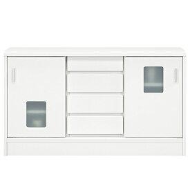 キャビネット サイドボード 幅120cm 白 リビングボード 完成品 収納家具 ホワイト リビング収納 おしゃれ 収納棚 背面化粧仕上げ 送料無料
