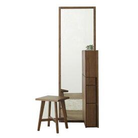 ドレッサー 化粧台 鏡台 スツール付 化粧品収納 姿見 ミラー 木製 シンプル モダン 送料無料