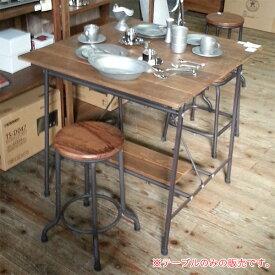 ダイニングテーブル テーブル モダン おしゃれ 木製 スチール リサイクルウッド カフェ 幅80cm アンティーク調 レトロ 送料無料
