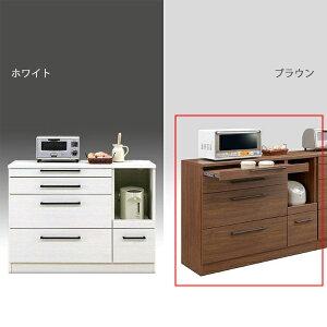 カウンター キッチンカウンター モダン キッチン収納 引き出し収納 木製 幅120cm 日本製 国産 完成品 モイス加工