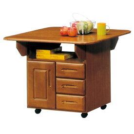 キッチンボード レンジ台 キッチン収納 キッチンカウンター 幅90cm キャスター付き 家電収納 台所 家具 完成品