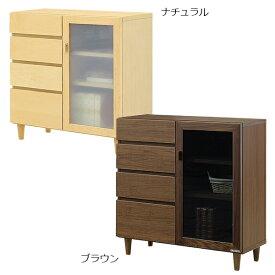 キャビネット リビングボード シンプル 収納家具 リビング収納 サイドキャビネット 幅80cm 日本製 国産 北欧 木製 送料無料