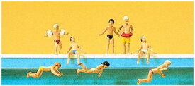 Preiserプライザー10307 プールの子供たち【HO人形】【塗装済み】【ジオラマ小物】【ネコポス可】