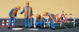Preiserプライザー10445 下水道作業員【HO人形】【塗装済み】【ジオラマ人形】