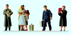 Preiserプライザー10612 帰国した人たち【HO人形】【塗装済み】【ジオラマ人形】【メール便可】