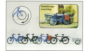 Four Preiser プライザー 17161 bicycles