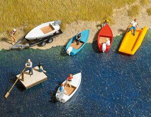 Buschブッシュ1157 ボートといかだのセット【HOゲージ】