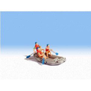 Nochノッホ16818 救命ボートで助けに行くライフセーバー【HO人形】【塗装済み】【ジオラマ小物】