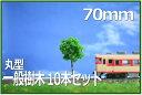 HOゲージNゲージ向け樹木模型 一般街路樹丸型 樹木70mm 10本セット 緑あふれるレイアウトに!鉄道模型1/50住宅模型建築模型 ミニチュア樹木ジオラマ樹木...