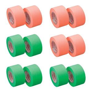 ロールふせん ロール付箋 アウトレット メモックロールテープ e-cut 蛍光色 25mm幅 12個セット入りポイント消化