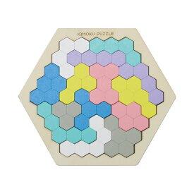 デビカ イクモクパズル 六角形パズル 積み木 知育玩具 木のおもちゃ おうち時間 積み木 積木 つみき 子供