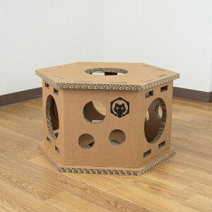 ネコベース NEKO BASE NEKOBASE強化段ボールで出来た猫の遊び場 キャットハウス キャットタワー1段 1台 単品