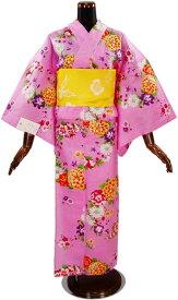 【SEIKO MATSUDA】浴衣「ピンク地に花づくし」