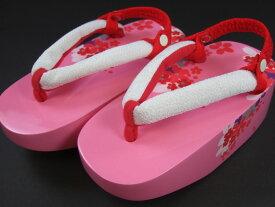 【売りつくし!】七五三草履【3歳用・5歳用・7歳用】「桜柄のこっぽり(ピンク)」