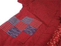 【中綿入り】はんてん「久留米織・袖なしはんてん(エンジ)」【10P02Dec11】
