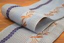 【井上絹織物】【正絹】【紗】博多織半巾帯・四寸帯・浴衣帯・本場筑前博多織証紙付き「とんぼ(ブルーグレー) 」
