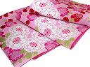 【Kami Shibai】正絹振袖用袋帯「桜といちごとさくらんぼ(ピンク)」【smtb-k】【w3】【10P03Dec16】