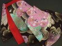 【振袖用】西陣織正絹袋帯「黒地に金桜」【10P03Dec16】