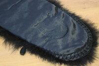 【長さ135cm】振袖用羽毛ショール「カラーショール(黒)」【クロネコDM便での発送はできません】【10P03Dec16】