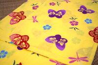 子供浴衣・キッズ浴衣・女の子【100cm・3〜4歳用】日本製・注染本染めゆかた「蝶とトンボと撫子」