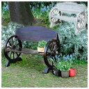 200円OFFクーポン! 木製ベンチ 車輪ベンチ 焼き加工 幅110cm ヴィンテージ風ベンチ 屋外用 杉松天然木 WB-1100