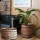日本製 樽型収納 木樽 バレル 大サイズ 直径39cm 高さ49cm コーヒー樽 アンティーク風 ヒノキ材 完成品 DT-0004NA/DT-…