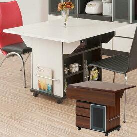 キッチンワゴン バタフライ カウンターテーブル 移動式 幅89.5cm キャスター付き 日本製 完成品 NO-0066/NO-0067