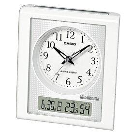 高輝度グリーンLEDライト付 CASIO カシオ 目覚まし電波時計 TQT-351NJ-7BJF 置き時計 日付・温湿度表示 秒針停止機能
