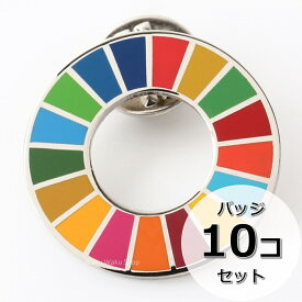 日本製 国連ガイドライン対応 SDGs ピンバッジ バッチ バッヂ 1個からまとめ買いまで Made in Japan (10個)