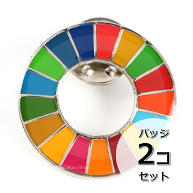 国連ガイドライン対応 SDGs ピンバッジ バッチ バッヂ 1個からまとめ買いまで (丸みタイプ2個)