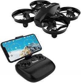 【日本語取説付】Potensic A20W black ドローン 高度保持 HD空撮カメラ WiFiリアタイム ヘッドレスモード 2.4GHz 4CH 6軸ジャイロ マルチコプター 国内認証済み