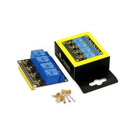 KEYESTUDIO DC 5V 4チャンネル リレーシールドモジュール 拡張ボード for Raspberry Pi ラズベリーパイ 3 4 4B 用 電子工作 電子部品