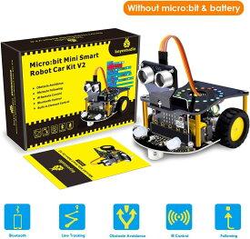 KEYESTUDIO スターターキット for BBC Micro:bit マイクロビット用 スマートカー 電子工作キット (Microbitマザーボードは含まれません)