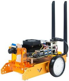 XiaoR Geek ロボットカー Jetbot AI kit with Nvidia Jetson nano (Orange, With Jetson nano)
