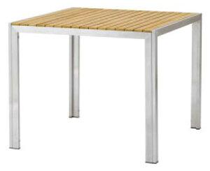 【ガーデンファニチャー】天然木(チーク) ライズテーブル900(角テーブル)お庭 や テラス で アウトドア 気分!高品質な タカショー の ウッド ガーデンテーブルセット をお求めやすい価格で