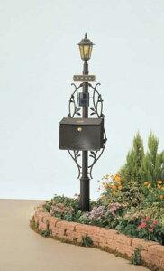 【機能ポール】ユーロブリーズ 組合せType4 アンティーク調 で 高品質の TOEX(LIXIL) 機能門柱|リフォーム おしゃれ 郵便受けポスト 郵便ポスト 新聞受け 玄関照明 外灯 ライト インターホン ヨ