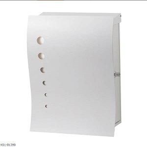 【ポスト】ナミ プラス アール ドット(T型カムロック付き) 壁付けタイプ 色:ホワイト郵便受け 郵便ポスト に 壁掛けポスト(前入れ前出し) |かわいい モダン おしゃれ 玄関ポスト ぽすと 新
