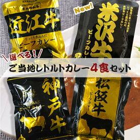 【メール便送料無料】ご当地カレー レトルト 選べる 4袋セット カレー 詰め合わせ