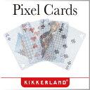 ( あす楽 ) トランプ ピクセルカード Pixel Cards 【 KIKKERLAND/キッカーランド 】 カード プラスチック かわいい 透ける 透明 デ...