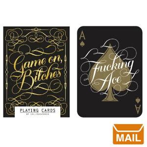 【 メール便 】 トランプ カード おしゃれ デザイン ゴールド ブラック Chronicle ゲーム プレイングカード ポーカー ブラックジャック カジノ 海外 アメリカ Playing Cards 大人 高級 / WakuWaku