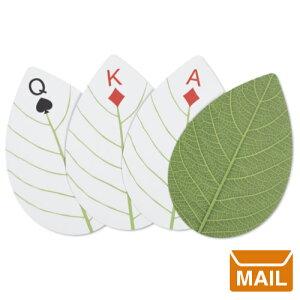 【 メール便 】 トランプ かわいい デザイン キャンプ 葉っぱ ハックルベリー リーフ カード 【 KIKKERLAND/キッカーランド 】 Huckleberry Leaf Cards カード アウトドア おしゃれ 自然 海外 / WakuWaku