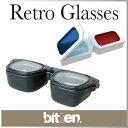 ( あす楽 ) コンタクトケース 眼鏡 メガネ グラス コンタクトレンズ ホルダー 3D グラス 【 fiftytwoways 】retro c…