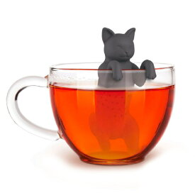 ティーストレーナー かわいい 猫 黒猫 茶こし 紅茶 緑茶 出し カップ 【Fred/フレッド】おもしろ雑貨 猫雑貨 purr tea cat マグカップ 楽しい 海外 デザイン シリコン プレゼント 雑貨 / WakuWaku