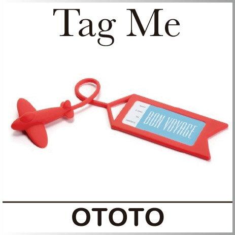 ( あす楽 ) タグミー ネームタグ スーツケース タグ 目印 名前【 ototo / オトト 】Tag Me - Luggage tag 旅行 好き プレゼント おしゃれ シリコン かわいい 飛行機 デザイン 目立つ 海外旅行 名前記入 / WakuWaku
