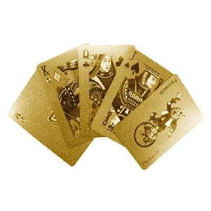 【 メール便 】 トランプ カード おしゃれ ( ゴールド ) 金 プレイングカード トランプ 【 INVOTIS 】 Playing Card Gold NETHERLAND プラスチック / WakuWaku
