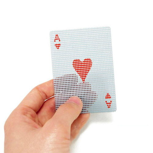 【 メール便 】 トランプ プラスチック カード おしゃれ マイクロ ドッツ トランスパレント カード かわいい 透ける 透明 micro dots transparent card / WakuWaku