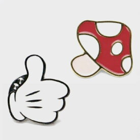【 メール便 】 おしゃれ雑貨 ピンバッチ オシャレ 可愛い ファッション 人気 【 J&M 】ラペルピン 日本製 プレゼント おもしろ / WakuWaku