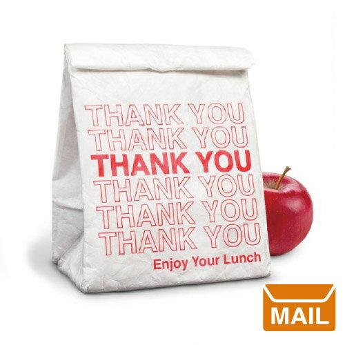 【 メール便 】 ホワイト ランチバック Thank you 海外 【 Fred / フレッド 】 OUT TO LUNCH 紙袋 のような ペーパーバッグ / WakuWaku