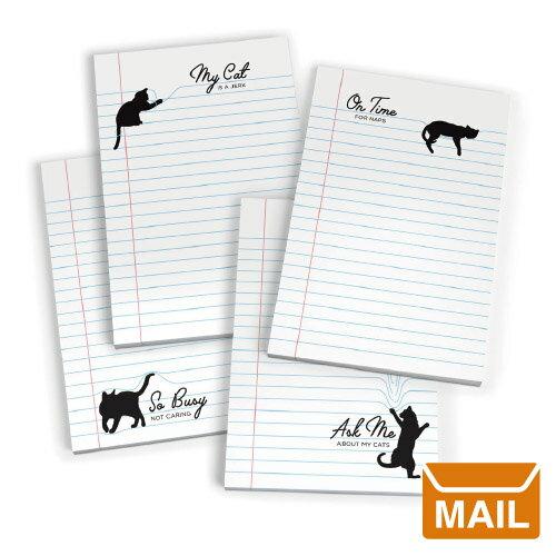 【 メール便 】 ノート ネコ 黒猫 セット 【 Fred / フレッド 】 PAW PADS sticky notepads かわいい クロネコ 猫 海外文具 プレゼント / WakuWaku